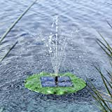 HI Solar Teichpumpe mit Fontäne schwimmendes Seerosenblatt