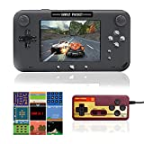 EASEGMER Handheld Games Console, 500 Retro FC Games 4 Inch Video Game Handheld Console - 12 Bit Rechargeable Game Player Support TV/AV Output & Two Players, Best Gift for Kids and Adults (Black)