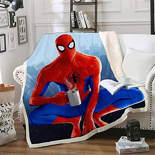 Aatensou Manta polar de Spiderman, impresión digital 3D, microfibra, se puede utilizar durante todo el año (A5,100 x 140 cm)