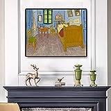 Vincent Van Gogh dormitorio en Arles pintura sobre lienzo carteles e impresión arte cuadro de pared ...
