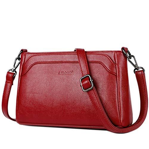 Bolso bandolera para mujer, bolso cruzado informal, para el aire libre, fácil de gran capacidad, versátil bolsa de la compra de materiales de piel para mujer
