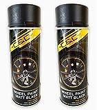 Vernice spray per cerchioni, colore nero opaco, 400 ml