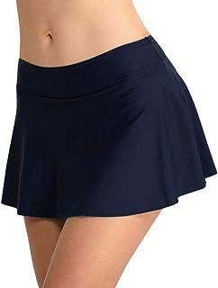riou Bikini, Falda Plisada Cintura Alta Mujer Nadar Troncos Shorts de Baño Grupo de natación bañador Playa Traje de baño Bikinis Bottoms Bragas riou
