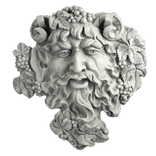 Design Toscano Bacchus, God van de wijn: bladmasker, muursculptuur traditioneel 2er-Set antique stone