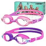 OMERIL Kinder Schwimmbrille [2 Stücke] Schwimmbrille für Kinder Mädchen Jungen, Taucherbrille...