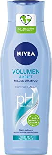 Nivea Volume & Strength łagodny szampon, 250 ml – odżywczy i wzmacniający szampon z ekstraktem z bambusa – szampon do włos...
