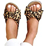 Sandals for Women Flat,Women's 2020 Bow Knot Comfy Platform Sandal Shoes Summer Beach Travel Fashion Slipper Flip Flops Brown