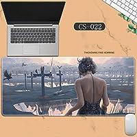 素敵なマウスパッド特大アイスプリンセスゴーストナイフ風チャイムプリンセスアニメーション肥厚ロック男性と女性のキーボードパッドノートブックオフィスコンピュータのデスクマット、Size :400 * 900 * 3ミリメートル-CS-022