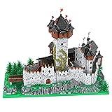PeppePell MOC-65340 - Castillo de bloques de construcción para castillo de Falkenstein, modelo de bloques de construcción antiguos, con licencia y diseño de PeppePell (15539 piezas)