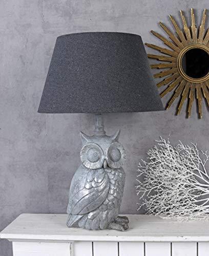 Klassische Tischlampe Eule Lampe Eulenfigur Uhu Leuchte Tischleuchte Vogelfigur Palazzo Exklusiv