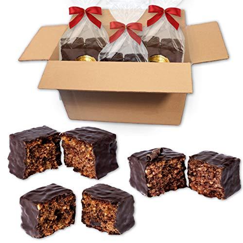 Lebkuchen-Konfektsteine Tasting Box - 3 verschiedene Packungen à 300g zum Probieren - Premium Qualität - Frisch & Saftig! - Nürnberger Lebkuchen Konfektsteine Tasting LEBKUCHEN WELT
