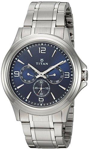 TITAN Reloj analógico para Hombres de Cuarzo con Correa en Latn 1698SM02