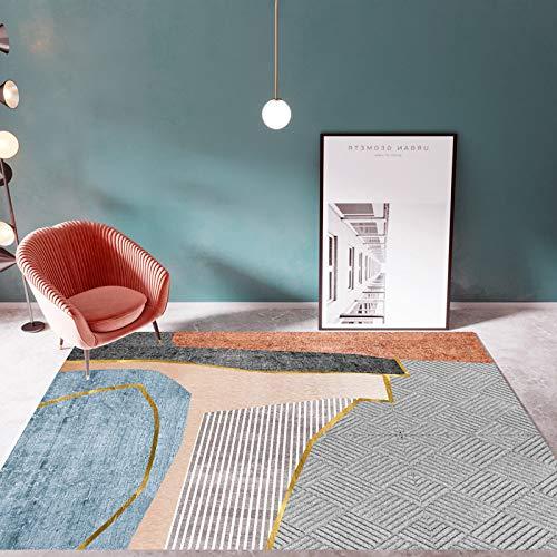 Alfombra Para Salón,Moderno Patrón De Diseño Geométrico De Lámina De Oro Anti Slip Lavable Gruesas Alfombras Grandes Interiores Para La Moderna Alfombra De Dormitorio De La Sala De Estar Tradici