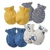 Gerber Baby Boys' 4-Pair Mittens, Fox, 0-3 Months