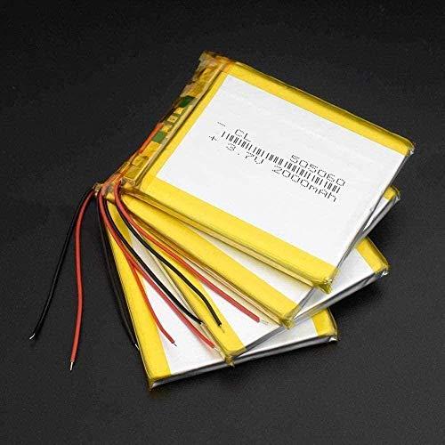505060 3 7V 2000 MAH LI Polymer Litio LIPO LIPO batería Recargable para el navegador GPS MP3 DVD DVD Tableta de batería Externa-4 Piezas