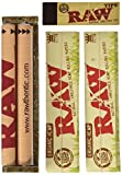 8. Raw King Size Organic Deal - King Size Slim Organic Rolling Papers, 110mm Rolling Machine and Wide Filter Tips INCLUDES Black Velvet Pouch