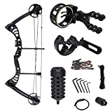iGlow 30-55 lbs Black Archery Hunting Compound Bow with Premium Kit 175 150 70 55 40 30 lb Crossbow