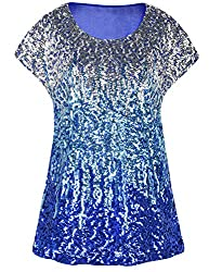 Silver/Lake Blue/Blue Loose Bat Sleeve Party Tunic Tops