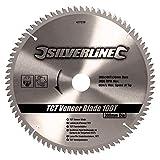 Silverline 427539 Lame TCT pour placages 100 dents 300 x 30 bagues de 25/20/16 mm