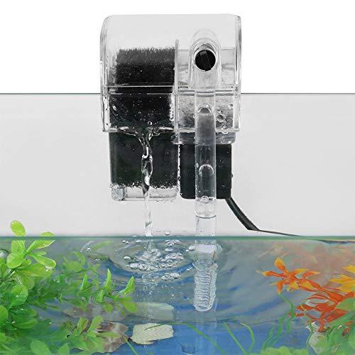 SOULONG Aquarium Filter, Außenfilter mit Filterwatte und Sauerstoff Pumpe für Aquarien Fließend Wasser Design