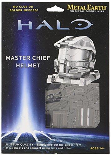 Fascinations Metal Earth MMS290 - 502694, Halo Master Chief Helmet, Konstruktionsspielzeug, 1 Metallplatine, ab 14 Jahren