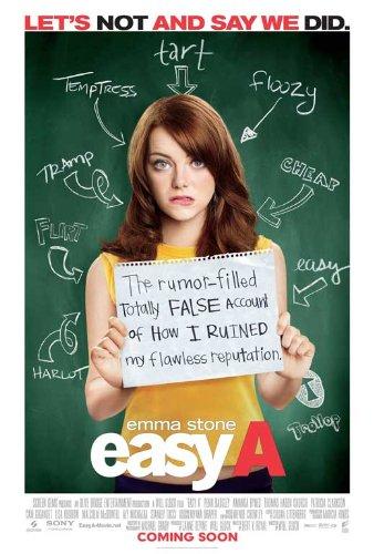 Easy A Poster Movie B (11 x 17 Inches - 28cm x 44cm) Emma Stone Cam Gigandet Amanda Bynes Stanley Tucci Malcolm McDowell Penn Badgley