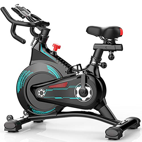 ATGTAOS Bicicleta de Ciclismo de Interior Estacionaria - Bicicleta de Ciclo con Cojín Ultrasuave, Soporte para Tableta para Entrenamiento Cardiovascular en Casa