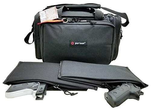 Explorer Large Padded Deluxe Tactical Range Bag - Rangemaster Gear Bag (Black)