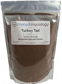Sponsored Ad - Myriad Mycology Turkey Tail Mushroom Powder 16oz or 1lb, Made in USA / Yun Zhi, 456g by Myriad Mycology