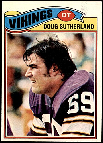 1977 Topps # 441 Doug Sutherland Minnesota Vikings (Football Card) EX/MT Vikings Wisconsin - Superior