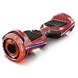 6.5' Premium Hoverboard Bluewheel | Marca de calidad alemana | Neumáticos LED Infinity & App | Modo de seguridad para niños | Altavoces Bluetooth | Patín eléctrico con potente motor dual - HX360