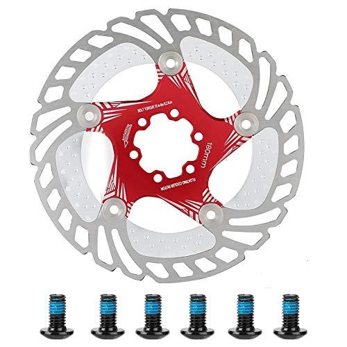 Alomejor Fahrrad Scheibenbremse 180mm Edelstahl Fahrrad Bremsscheibe mit 6 Schrauben für Rennrad Mountainbike BMX(Rot)