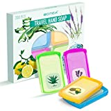 200 Sheets Portable Hand Wash Paper Travel Soap Leaves with Storage Box, Disposable Paper Soap with 4...