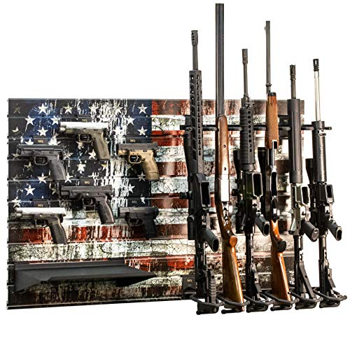 Hold Up Displays Gun Rack Slatwall Rifle and Pistol Modular...