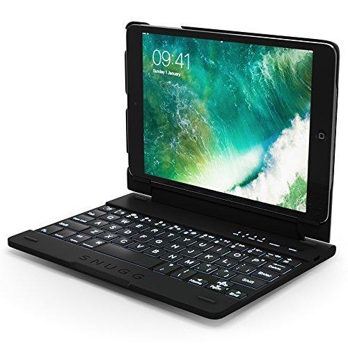 Snugg iPad Mini 1, iPad Mini 2 and iPad Mini 3 Keyboard Case, Apple iPad Mini 1, iPad Mini 2 and iPad Mini 3 Bluetooth Keyboard Case Cover [Smart Backlit] Folio, Wireless Auto Sleep/Wake - Black