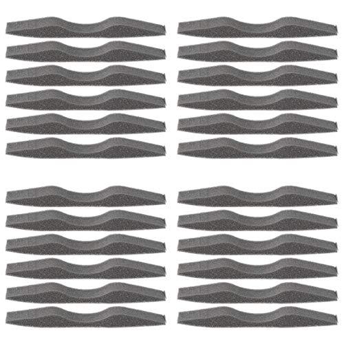 MILISTEN 24 Stücke Nasenbrücke Antibeschlag Brille Nasenbügel Mundschutz Bügel Brillenträger Schwamm Innenhalterung Schutzhülle für Gesichtsschutz Sonnenbrille Gesichtsbedeckung