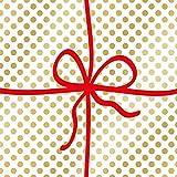 Home Collection Casa Cucina Decorazione Accessori Set 40 Tovaglioli Monouso Carta 3 veli 33 x 33 cm Motivo Pacco Regalo Natale