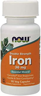 Now Foods Iron Double Strength 36 mg - 90 Veg Capsules