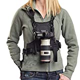 Nicama Camera Strap Carrier Chest Harness Vest with Mounting Hubs & Backup Safety Straps for Hiking Canon 6D...