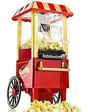 Gadgy Popcorn maskin | Retro Popcorn Maker | Varmluft utan fett fettfri oljefri
