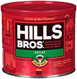 Hills Bros Decaf Original Blend Ground Coffee, Medium Roast, 23 Oz. Can – Caffeine Free, Full-Bodied Classic Rich Coffee Taste