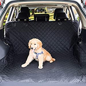 Pet Trunk Cargo Liners with Side Walls and Bumper Flap Protection Non Stick Fur-Waterproof Oxford Dog Car Seat Cover SUV-Durable Pet Travel Accessories Floor Mat Easy Claen
