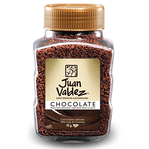 Juan Valdez, normal gefriergetrockneter Kaffee mit Schokoladengeschmack, 95g Jar.