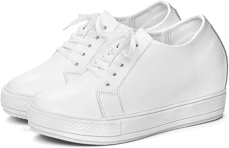 Btrada Women's Wedge Loafers Sneaker Lace Up Athletic Walking shoes Waterproof