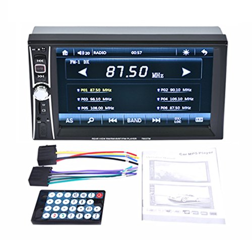 6.6 Inch HD Autoradio MP5-speler Touchscreen Phone Link Smart Phone Zwart