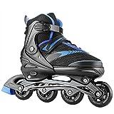 Hikole Inline Skates für Erwachsene & Jungendliche verstellbar Inliner Männer Damen Kinder Rollschuhe PU Verschleißfeste Größe 35-43, Max. Belastung 80KG