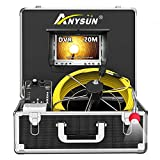 Pipe Inspection Camera, Drain Sewer Industrial Endoscope Anysun PIC20 Waterproof IP68 20M/65ft Snake Video System with 7 Inch LCD Monitor 1000TVL Sony CCD Camera with DVR Record(Include 8G SD Card)