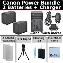 2 BP-970G Batteries + AC/DC Turbo Charger with Travel Adapter + Complete Kit for Canon XF100 XF105 XF300 XF305 GL1 GL2 XH-A1 XH-A1S XH-G1 XH-G1S XL-H1 XL H1A XL-H1S XL1 XL1S XL2 Camcorder