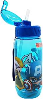 Runninglion Kids Water Bottle with Straw 15.5 oz Leak Proof BPA Free Mickey Minnie Sophia Captain American Cup for School Children Student Birthday