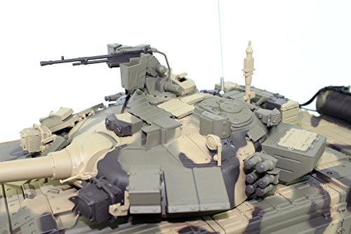 RC Auto kaufen Kettenfahrzeug Bild 3: ES-TOYS Ferngesteuerter Panzer Russland T-90 Heng Long 1:16 mit Rauch&Sound und Metallgetriebe -2,4Ghz*